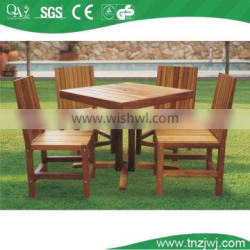 coffee color wooden dining table and chair