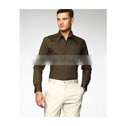 100% cotton men dress shirt fashion style