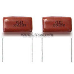 CL21 Polyester Film Capacitor for 3.3uf 250V