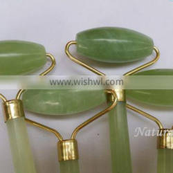 DHL free shipping woman handheld face care products natural jade massager roller