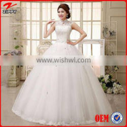 Wedding dress Floor-Length Sleeveless Natural Lace Up Multi Sizes More Color Simple Wedding Dresses Quality Choice