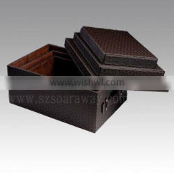 pu pvc leather storage box