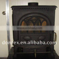 Cast iron wood fireplace
