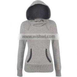 Fashion design lady hoody, custom cotton lady hoody, printing pullover lady hoody
