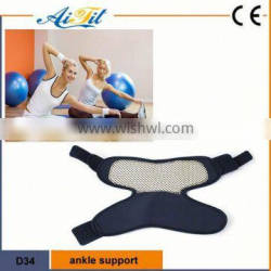 2016 High quality Elastic tourmaline self-heating pad magnetic therapy ankle guard pad heated ankle support padded