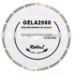 Segmented small diamond blade for long life cutting abrasive material(GELA)