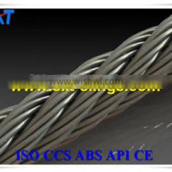 ungalvanized steel wire rope with PVC