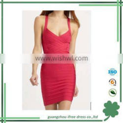 Rose red spaghetti strap summer dresses for women fashion womens clothing
