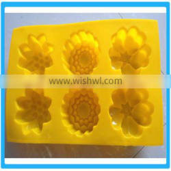 6 Silicone Flower Cake Mold 6 Flower Cookie Mould 6 Flower Silicone Baking Mold