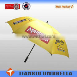 strong frame windproof UV protection auto open golf umbrella