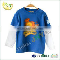 Leisure cotton blue and white long sleeve baby boy shirt