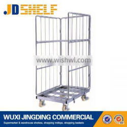 zinced rolling container pallet trolley