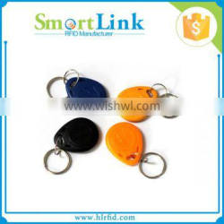 Hot sell ABS rfid keychain with writable chip EM4305,rfid electronic keyfob for access control