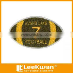 Customized football chenille embroidery iron on patch