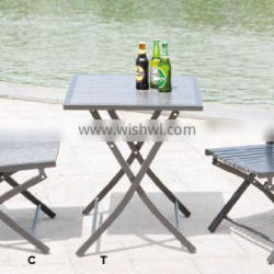Synthetic plastic wood coffee table garden furniture 2015 New