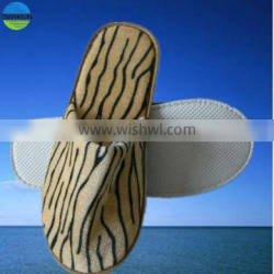new style high quality the tiger pattern disposable hotel slipper