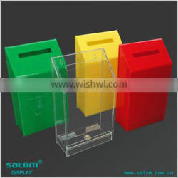 Factory Direct Sale Low Price Acrylic Charity Boxes