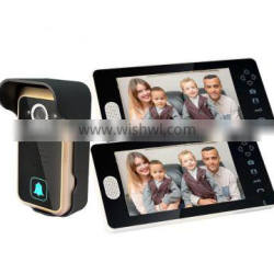 """Hot selling Night Vision 7"""" Color Remote Control 1v2 Wireless video door phone"""