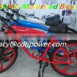 racing bicycle on sale with 2 stroke 80cc black engine kit