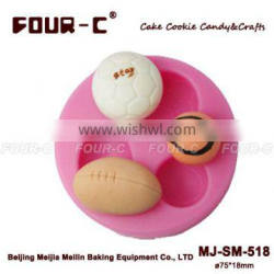 Sport Balls cupcake top mold,most popular cupcake decorating tools