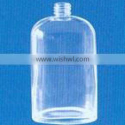 glass clear lotion bottle and cream jar