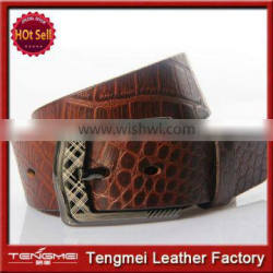 2014 new products fashion luxury men's genuine crocodile leather belt wholesale