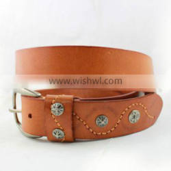 2016 New Designed Classic Men's Geniune Leather Belt Veg Tanned Full Grain