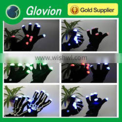 Party favor luminescence led glove black led glove glow in the dark