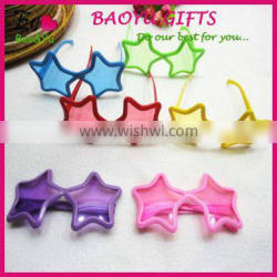 Colorful Kids Sunglasses Star Shaped Plastic Galsses Wholesale