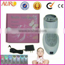 Christmas promotion Mini 7 Color Photon Ray Ultrasonic Skin Rejuvenation face BIO Lift beauty device 013