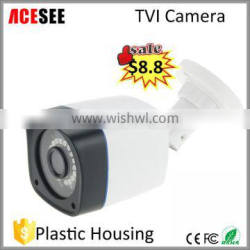 ACESEE plastic ip66 bullet night vision 720p hd tvi security camera