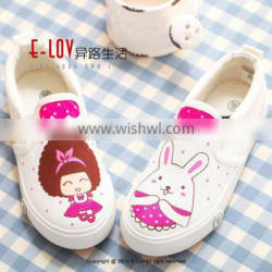 NO.XW009 2016 Hot sales high quality and cheap bulk canvas shoes white