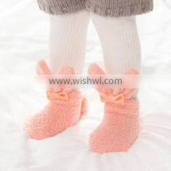B40968A Wholesale cute toddlers socks girls rabbit style floor fuzzy socks