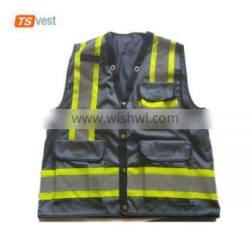 China Wholesale Polyester Safety Reflective Grey Vests