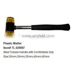 plastic Mallet with steel tube and PP grip