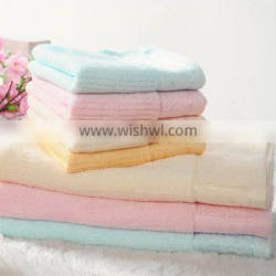 solid towel with lace border