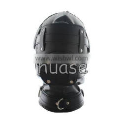 Sexy Adult Novelty Product Sex Toy Full Hood Full Mask With Gag