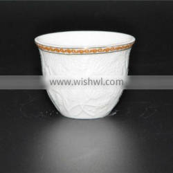 Factory direct quality assurance ceramics golden 120ml coffee cup set