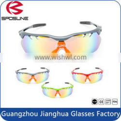 Factory Dropshipping wrap around sunglasses cool REVO PC lens sports cycling eye glasses