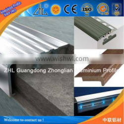 6063 T5 aluminum profile for stairs / anti-slip for for stair edge protection aluminum special profiles