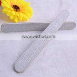 Grey Straight Nail Files Double Side Rasp Ring Emery Board Manicure Set