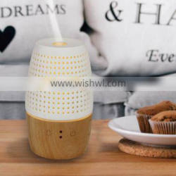 PORCELAIN AROMA DIFFUSER WITH BAMBOO BASE/WOOD AROMA OIL DIFFUSER/ULTRASONIC HUMIDIFIER