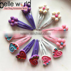 Factory price cute Hair Snap colored paint BB Clip for children