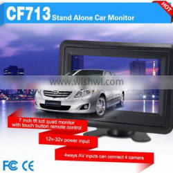 super clean image stand alone 7 inches tft lcd color monitor with 12v dc input