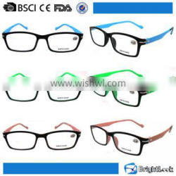 Black frame pc hot reading glasses with metal screws