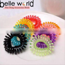 Solid Colors Telephone Wire Elastic Hair Band Hair Tie