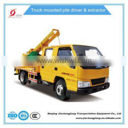 2016 China Truck-mounted Highway Guardrail electric Pile Driver for fence posts cheap on sale whatsapp 86 18012971837