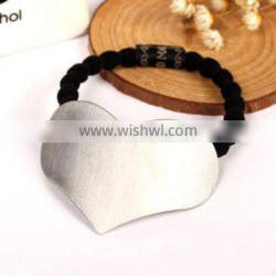 2016 New Fashion Women Triangle Heart Square Shape Metal Elastic Hair Bands Hair Rope Hairbands Hair Accessories Jewelry