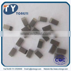 tungsten carbide sawtooth used for wood cutting tool