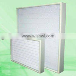 Supply high quanlity FRS-UW mini-pleat ultra low penetration air filter for clean room